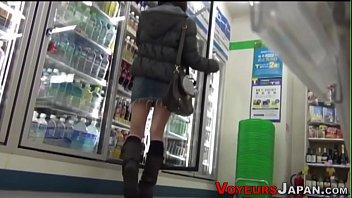 Japanese babes followed video