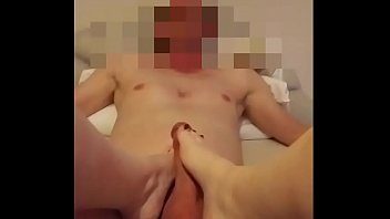 Sexy hot milf gives awesome footjob no8