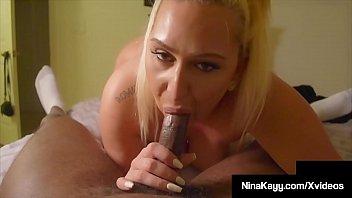 Doggy style fucking clips Hefty nina kayy fucks a big black cock all over the house