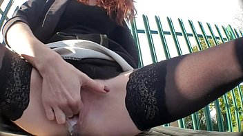 Only amateur female orgasm videos 2 risky outdoor public squirting videos