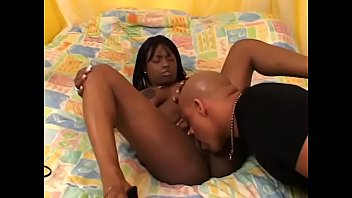 Sexy ebony whore rides black cock then gets cum on her face