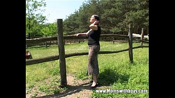 Fucking lady boys - Tall mature lady gets banged by a farm boy