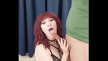 Goth girl Vanerose stripping and sucking a nice cock preview 62 sec