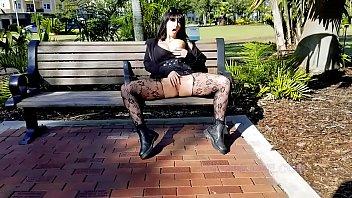 Public Masturbation Squirting Shameless Goth Slut