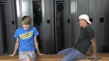 Gay dicks locker rooms Classmates doing it in the locker room