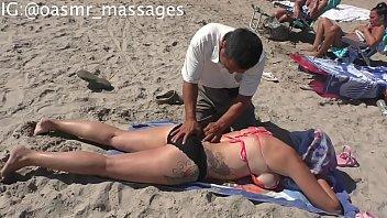 Side Boob Beach Massage
