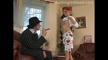 Slutty redhead babe anal fucked hard and gets a facial cumshot