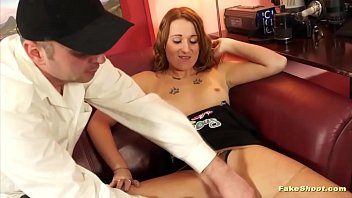 Fake casting video with a weighty euro slut