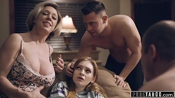 PURE TABOO Step-Parents & Step-Bro Welcome New Sister to Perv Family tumblr xxx video