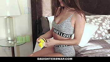 DaughterSwap - Cute Teen Cam Girl (Adria Rae) Fucked By Bffs (Cara Stone) Dad
