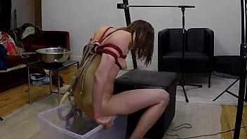 Enema with Rope Bondage and Suspension
