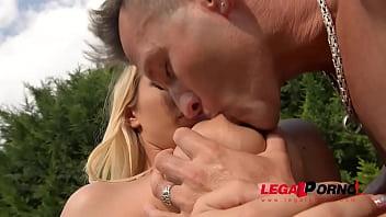 Sensual sunshine threesome fucking makes Kyra Hot & Aida Swinger scream GP366 preview image
