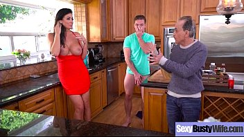 Big Melon Tits Housewife (Reagan Foxx) Enjoy Hard Sex On Camera clip-22