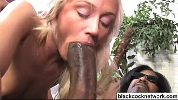 2 black monster cocks use stunning blonde babe