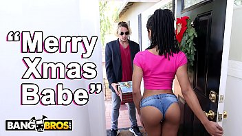 BANGBROS - Black Pornstar Kira Noir Takes Anal From Her Boyfriend Tyler Nixon On Christmas