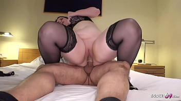 German Curvy BBW Teen Fuck by old Guy in Hotel in Berlin