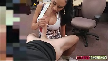 Lucky pawnshop owner taste latina pussy today in his office