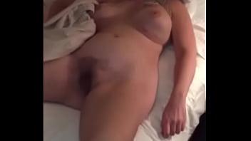 blond wife sleeping nude