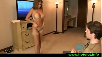 HotWifeRio TANNED MOTHER CATCHES SON JERKING OF...
