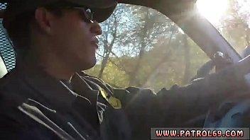 Black Police Wo man Nasty Border Patrool Surve r Patrool Surveys Pretty Dark Haired