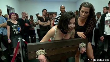 Bondage video galleries Wet pussy slave fisted in public