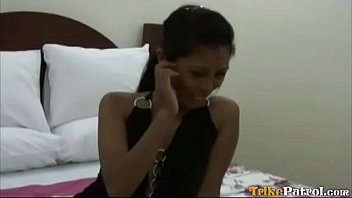 Shy young Filipina girl rides the cock well in sleazy hotel room