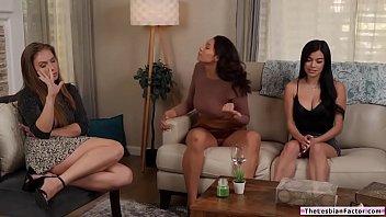 Busty babe licks wifes lesbian mistress