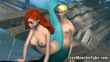 Mermaid blowjob