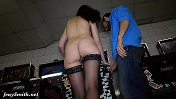 Nude babes undressed Jeny smith undresses at public show room