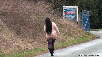 Chubby amateurs public nudity and bbw Emmas homemade exhibitionism showing pussy porno izle