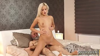 Sugar daddy cums inside me and girl with old boss Surprise your
