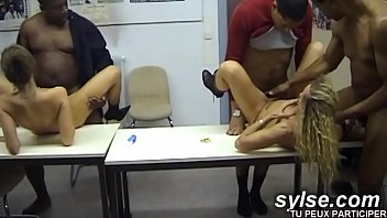 Horny secretaries loving cumshots