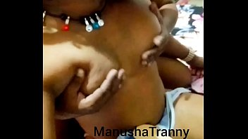 Press my boobs - Indian CD Escort Manusha Shemale enjoys her boobs being squeezed hard