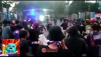 Persik naked Baku hantam suporter liga indonesia part 1 persik vs psim