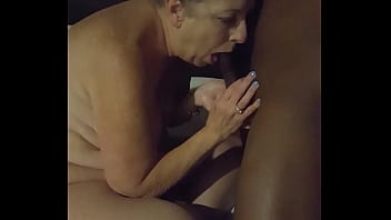 Slutwife Carol deepthroating black friend from AFF