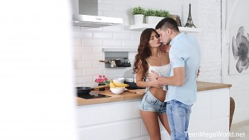 X-Angels.com - Nita Star - Hottie lures lad into kitchen Thumb