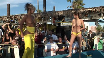 Bikini contest smallest Coeds get naked in daytime contest