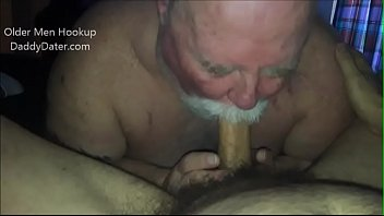 Chubby SIlverdaddy Sucks My Cock and Eats my Ass video