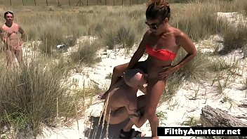 Beach mass gangbang - Gangbang at the beach