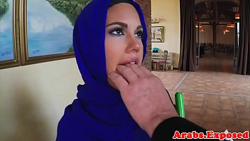Cum tasting muslim babe drilled on all fours
