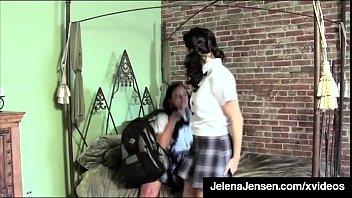 Busty School Girls Jelena Jensen & Aria Giovanni Make Out!