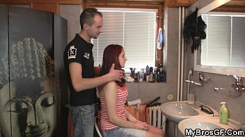 Redhead girl cheats with his BF's bro