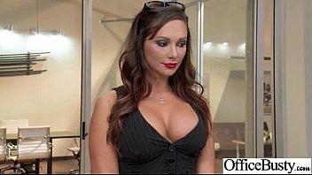 (Dixon do destino) Menina sexy com peitos grandes bateu no escritório movie-10