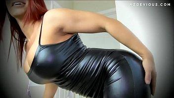 Leather body dress