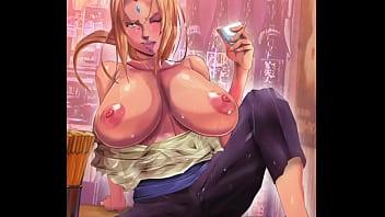 Huge hentai manga Hentai tsunade of naruto showing her huge breasts