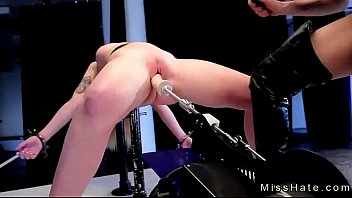 Sex slaves on mars Blonde in device bondage spanked and fucks machine