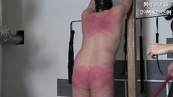Hard Whipping of Two Slaves - Merciless Punishment with Czech Mistresses