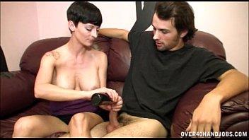 Sexy Milf Gives Some Cock Strokes thumbnail