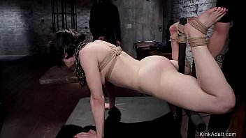 Hairy pussy slave fucking big cock