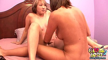 Busty Thai girl gets wet pussy used by lesbian 1st time coed